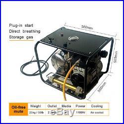1100W 8bar Scuba Diving Breathing Air Compressor 110V Pump With50ft Hose Regulator