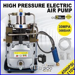 110V 300BAR 30MPA 4500PSI High Pressure Air Pump Electric Compressor Rifle PCP