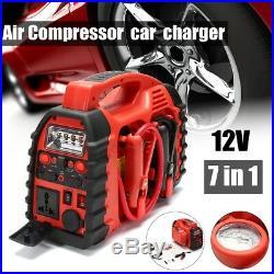 12V Air Compressor Car Charger Battery Auto Jump Starter Booster Power Pack Pump
