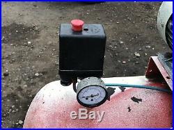 150 Litre Air Compressor 3HP 240v Twin Cylinder Pump Belt Driven Need New Motor