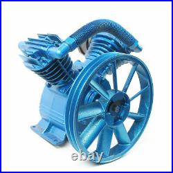 175PSI 5HP 4KW V Style 2-Cylinder Air Compressor Pump Motor Head Double Stage US
