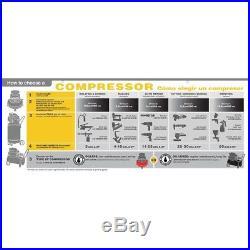 17.5 CFM 145 PSI Twin Cylinder Air Compressor V Pump 5HP Electric Motor Garage