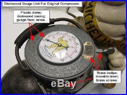 1920's Michelin Man Air Pump Compressor Bibendum TOP Air Gauge COVER