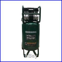 20 Gal 150 PSI Ultra Quiet Portable Electric Vertical Air Compressor Dual Pump