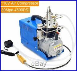300BAR 30MPA 4500PSI High Pressure Air Compressor PCP Airgun Scuba Air Pump 110V