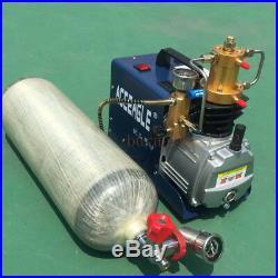 300BAR 30MPA 4500 PSI Hochdruck Kompressor PCP Airgun Scuba Luft Luftpumpe 220V