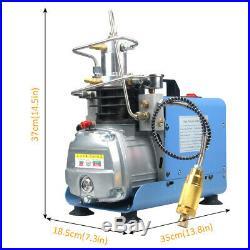 30MPA 4500PSI High Pressure Air Compressor PCP Airgun Scuba Air Pump 110V New