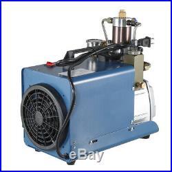 30MPa High Pressure Air Compressor Pump 110V PCP 4500PSI 80L/Min with Hand Pump