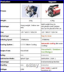 30MPa NEW Air Compressor Pump 12V PCP Electric 4500PSI High Pressure For car MS