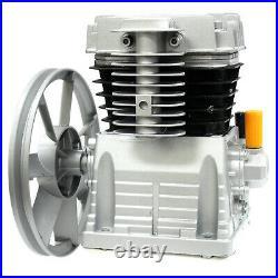 3hp Belt Driven Air Compressor Head Pump 160psi Single Stage Dual Cyclinders
