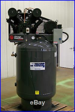 AIR-MAX Air compressor 10 hp 3 ph two stage, Cast iron pump