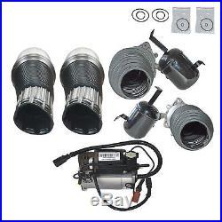 Air Suspension Spring+Air Compressor pump Kits For Audi A8 D3 02-10 Engine V6 V8