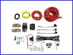 Airmaxxx Chrome Dual Compressor Wire Kit 5 Gallon Steel 9 port Tank Air Ride