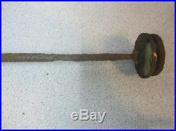 Antique Hand Pump Air Compressor Physics Demo, Medical, 27 tall Brass, Copper