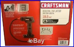 CRAFTSMAN C3 19.2V Digital Inflator Air Pump Cordless Portable 19.2 Volt 11586