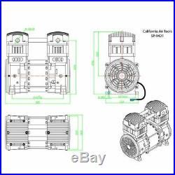 California Air Tools 2-HP Ultra Quiet & Oil-Free Air Compressor Pump & Motor