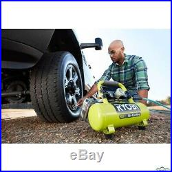 Cordless Portable Air Compressor Inflator Pump Car Tire 1 Gal 18-Volt Tool Only
