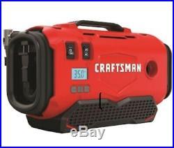 Craftsman Lithium Ion Tire Air Inflator and Air Mattress Emergency Pump 20v max
