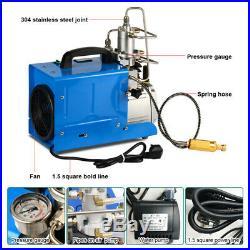 Electric PCP Air Compressor 110V 30MPa 4500PSI High Pressure Pump Scuba Diving