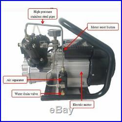 High Pressure 300 bar 4500psi Air Compressor Auto Stop Pump for Tank Refill 3L