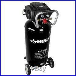 Husky Portable Air Compressor 20 Gal. 175 PSI Slim Vertical Design Oil Free Pump