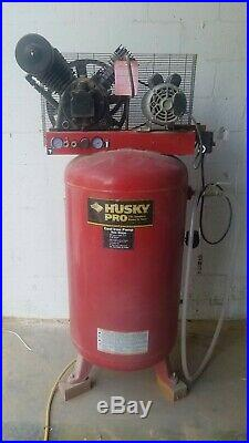 Husky Pro 80 gallon 4 hp Two Stage Air Compressor 175 Max PSI Cast iron pump