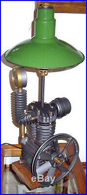 Industrial Steampunk Air Compressor Pump Lamp with Bubble Light L@@K