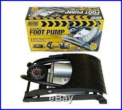 Maypole Durable Double Barrel Cylinder Air Foot Pump Car Van Bicycle Tyre & Item