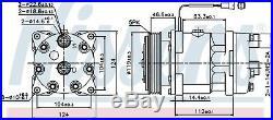 NISSENS 89171 Kompressor Klima Anlage Citroen BX NX Break Peugeot 309 405 605