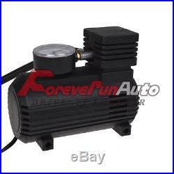 New 300 PSI 12V Portable Mini Air Compressor WithGauge Auto Car Tire Infaltor Pump