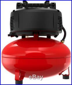 Portable Electric Pancake Air Storage Compressor Tool 6 gal Durable Oilfree Pump