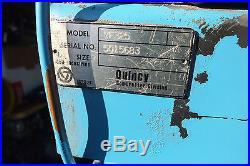 Quincy Air Compressor Ve325 325 Pump Great Work Horse In