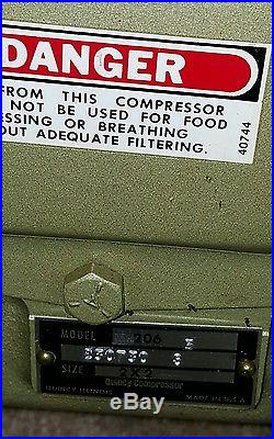 QUINCY MODEL 206 AIR COMPRESSOR PUMP HEAD NOS 2x2