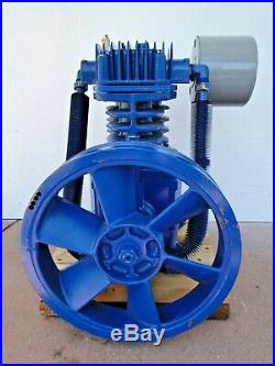 Quincy Air Compressor Pump QT5QCB3 2 Stage Lubricated Piston Type CLEAN