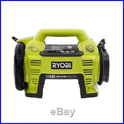 Ryobi 18V Portable Air Compressor Tire Inflator Deflator Tyre Bike Pump New
