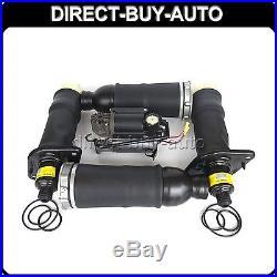 Suspension Compressor pump & 4pcs Air Spring Fit 2001-2005 Audi Allroad Quattro