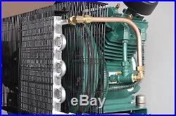 THE BEST 7.5hp Duplex Single Phase 230 volt, 51.6 CFM Air Compressor R30D Pumps