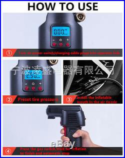 Universal Handheld Portable Air Compressor Car Bike Tires Inflator Pressure Pump