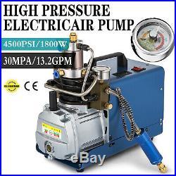 Upgraded 30MPa Air Compressor Pump 110V PCP Electric 4500PSI High Pressure US
