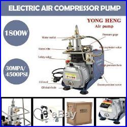 YONG HENG 30MPa Air Compressor Pump 110V PCP Electric 4500 PSI High Pressure USA