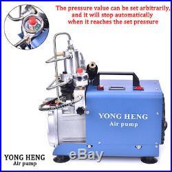 YONG HENG 4500PSI 30MPa Air Compressor Electric Auto Pump High Pressure Shut PCP