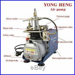 YONG HENG PCP 110V 30MPa Electric Air Compressor Pump High Pressure System Rifle
